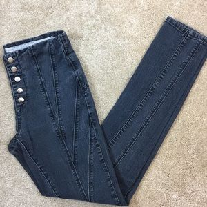 👖 SILENCE & NOISE Black Fade BUTTON FLY JEANS 26